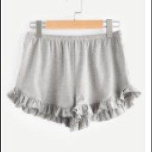 Grey flowy shorts